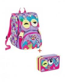 schoolpack-facce-da-sj-girl-con-astuccio-completo-3-zip
