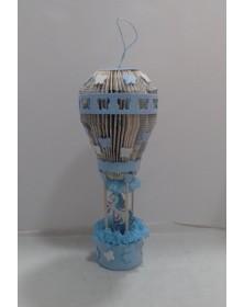 libro-scultura-mongolfiera-azzurra
