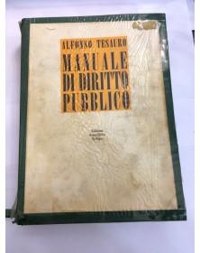 MANUALE DI DIRITTO PUBBLICO  A. TESAURO ED. SCIENTIFICHE ITALIANE ANN.1973